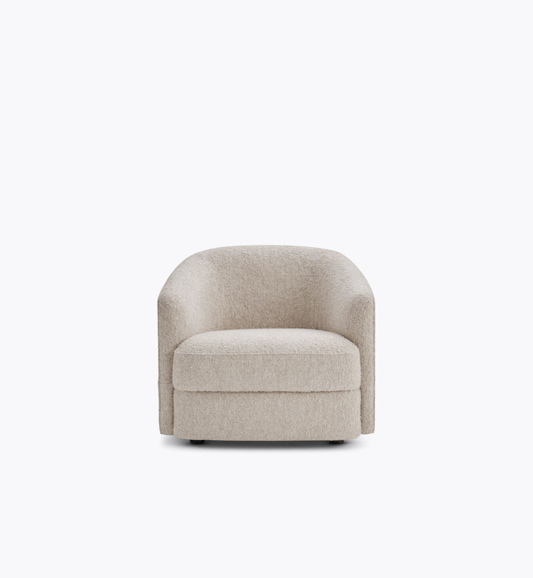 Covent Lounge Chair Front Astrid Textiles Grey Background Cabane Blanche